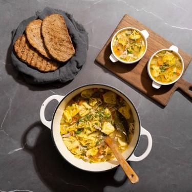 Quick and Easy Chicken Tortellini Soup Recipe | SideChef