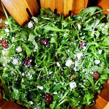 Arugula Salad with Feta and Olives Recipe | SideChef