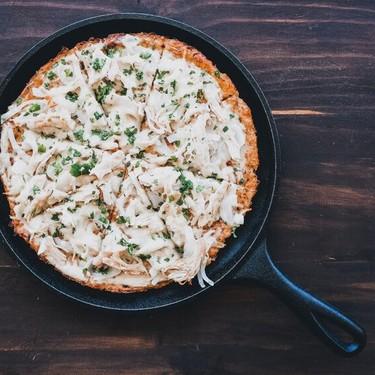 Garlic Parmesan Chicken Cauliflower Pizza Recipe   SideChef