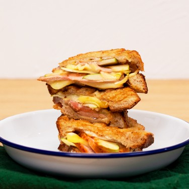 Brie, Green Apple, and Hot Honey Roast Pork Sandwich Recipe | SideChef