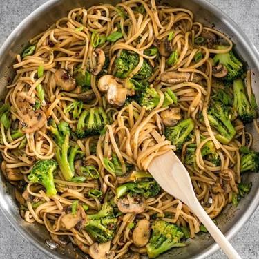 Simple Mushroom Broccoli Stir Fry Noodles Recipe   SideChef