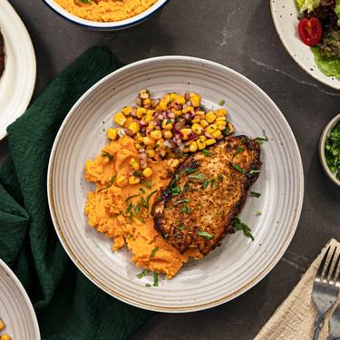 Cajun Chicken with Sweet Potato Mash Recipe   SideChef