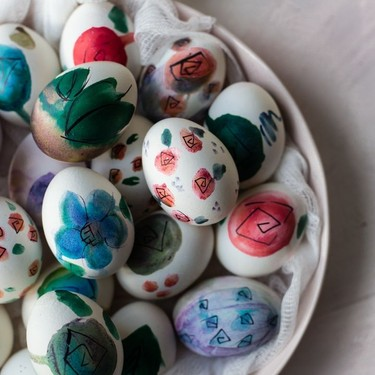 Watercolor Floral Eggs Recipe | SideChef
