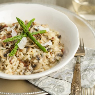 Mushroom Bacon Risotto Recipe | SideChef