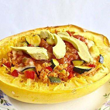 Chicken Taco Stuffed Spaghetti Squash Recipe | SideChef