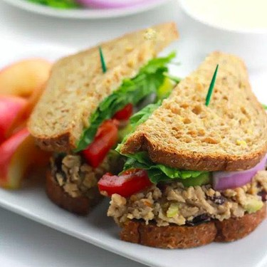 Cranberry Chickpea Salad Sandwich Recipe | SideChef