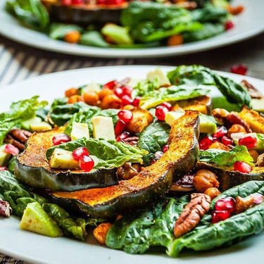 Moroccan Chickpeas and Roasted Squash Fall Salad Recipe   SideChef