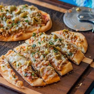 Latin-Style Naan Pork Pizza Recipe   SideChef