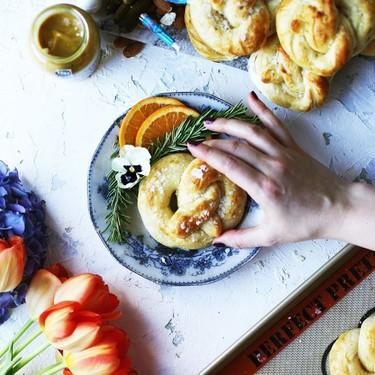 Rosemary, Orange, and Goat Cheese-Stuffed Soft Pretzels Recipe | SideChef
