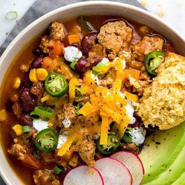 Slow Cooker Turkey Chili Recipe | SideChef