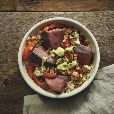 Flank Steak and Pepper Rice Bowl Recipe   SideChef