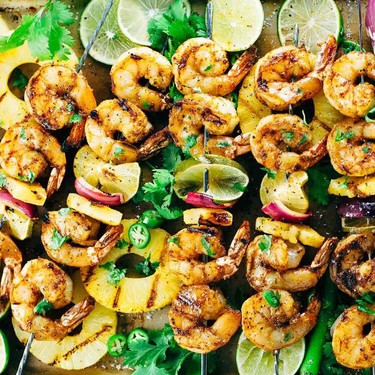 Grilled Shrimp Skewers with Pineapple Sauce Recipe   SideChef