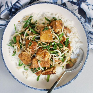 Stir-Fried Tofu with Bean Sprouts and Chinese Chives Recipe   SideChef