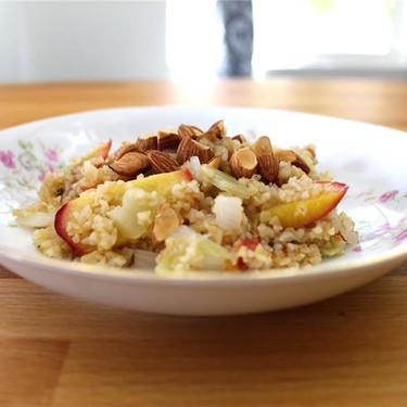Roasted Stone Fruit with Bulgur and Fennel Recipe   SideChef
