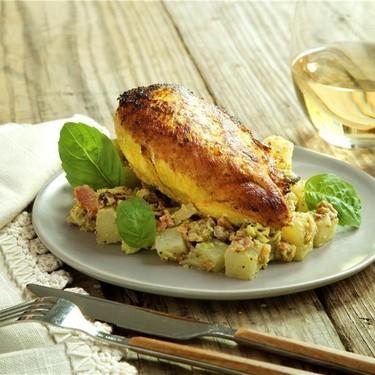 Skillet Rosemary Chicken with No-Tato Salad Recipe   SideChef