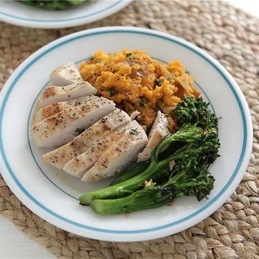 Chicken, Sorghum Sweet Potatoes, and Broccoli Recipe | SideChef