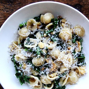 Orecchiette with Brown Butter, Swiss Chard, and Walnuts Recipe | SideChef