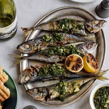 Grilled Maasbanker with Salsa Verde Recipe   SideChef