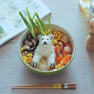 Vegan Ramen with Global Warming Polar Bear Recipe   SideChef