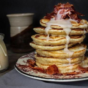 Lemon Pancakes + Candied Maple Bacon Recipe   SideChef