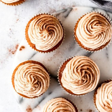Pumpkin Cupcakes with Cinnamon Cream Cheese Frosting Recipe | SideChef