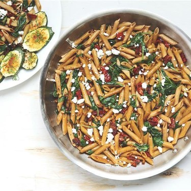 Mediterranean Penne with Sun-Dried Tomatoes Recipe | SideChef