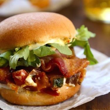Bacon Ratatouille Sliders with Lemon Saffron Aioli Recipe | SideChef