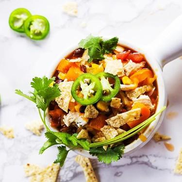 Slow Cooker Chicken Fajita Soup Recipe   SideChef