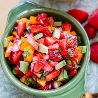 Spicy Strawberry Mango Salsa Recipe | SideChef
