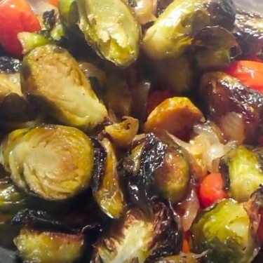 Marc's Oven Roasted Brussel Sprouts and Tomatoes Recipe   SideChef