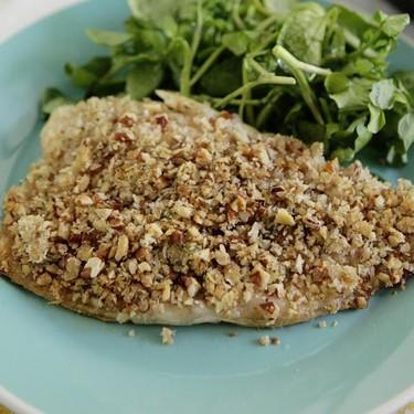 Pecan Crusted Trout, Potato & Bean Roast & Salad Recipe   SideChef