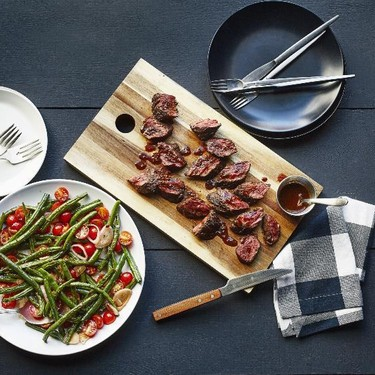 Ancho-Rubbed Hanger Steak with Green Bean Salad Recipe | SideChef