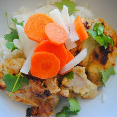 Lemongrass Chicken with Pickled Vegetables Recipe   SideChef