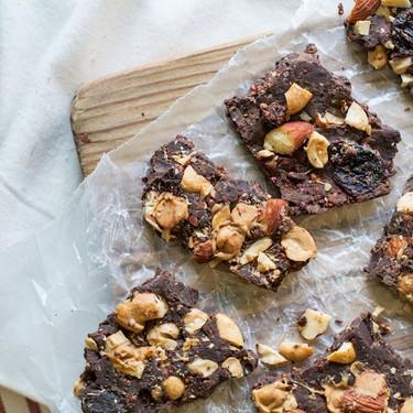 Dark Chocolate Bark with Toasted Quinoa and Nuts Recipe   SideChef