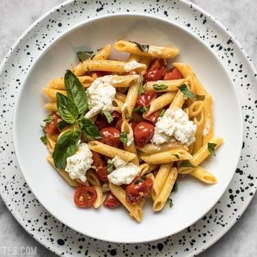 Fresh Tomato Basil Pasta With Ricotta Recipe   SideChef