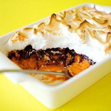Sweet Potato Casserole with Pecan Crumble and Meringue Recipe | SideChef