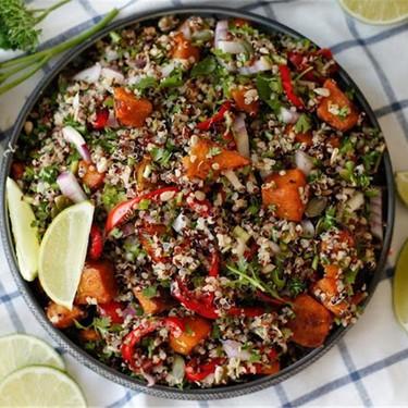 Quinoa Salad with Roasted Pumpkin Recipe   SideChef