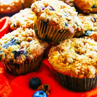 Blueberry Peach Muffins Recipe | SideChef