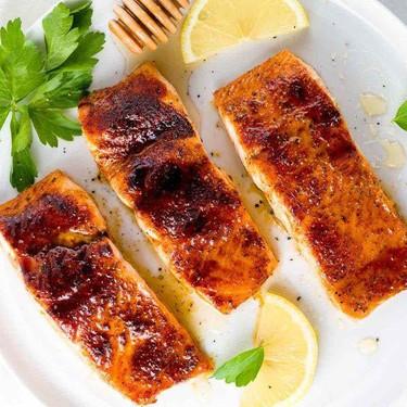 Broiled Salmon with Molasses Glaze Recipe | SideChef