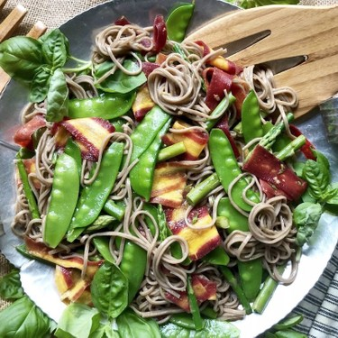 Soba, Snow Pea, and Asparagus Toss Recipe   SideChef