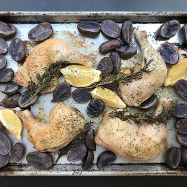 Rosemary Lemon Roasted Chicken and Potatoes Recipe | SideChef
