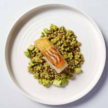 Roast Cod & Green Pesto Fregola Recipe | SideChef