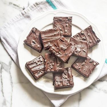 Raw Dark Chocolate Healthy Brownies Recipe | SideChef