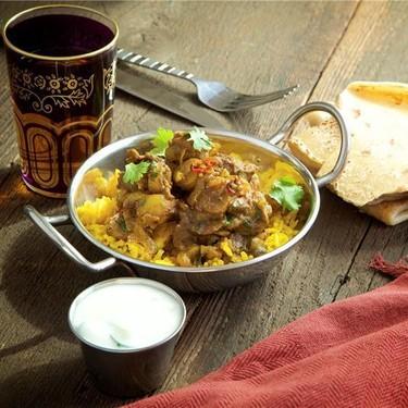 Lamb Curry and Turmeric Rice with Cucumber Raita Recipe | SideChef