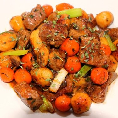 Sautéed Steak with Potatoes, Carrots & Onions Recipe | SideChef