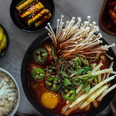 Spicy Kimchi Tofu Stew (Kimchi Jjigae) Recipe   SideChef