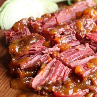 Corned Beef with Apricot Dijon Glaze Recipe | SideChef