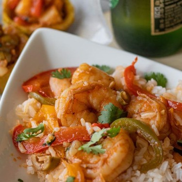 Beer Stewed Shrimp and Plantain Cups Recipe   SideChef