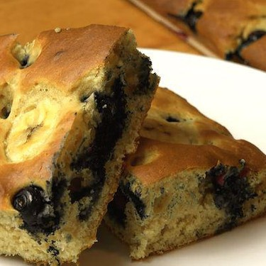 Banana and Blueberry Sheet Pan Pancakes Recipe   SideChef