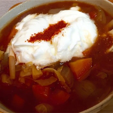 Crock Pot Sweet and Sour Cabbage Soup Recipe | SideChef